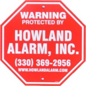 Howland Alarm Company Stop Sign Logo | Howland Alarm Company